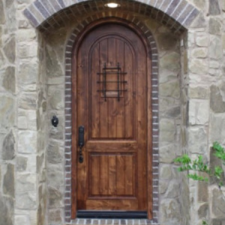 Doors Contemporary Hoelscher 2 Panel Arched