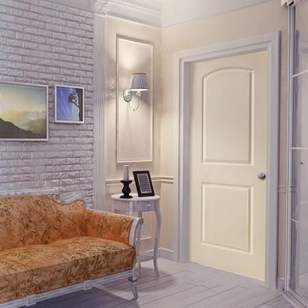 Door Contemporary Masonite 2 Panel Roman Beige