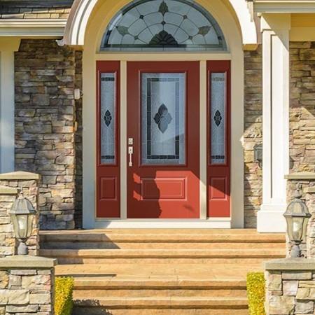 Doors Contemporary Belleville Red