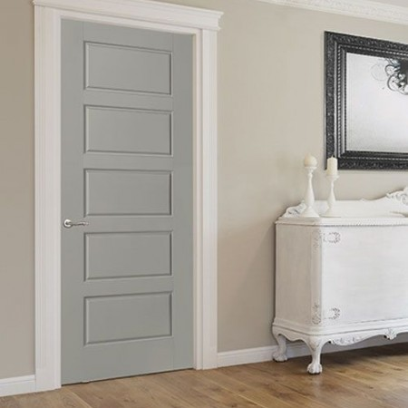 Door Contemporary Masonite Riverside Gray