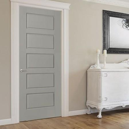 Door Contemporary Masonite Riverside Gray