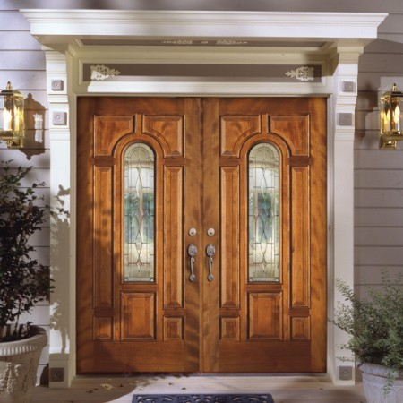 Doors Contemporary Simpson Double Doors Arched Pane