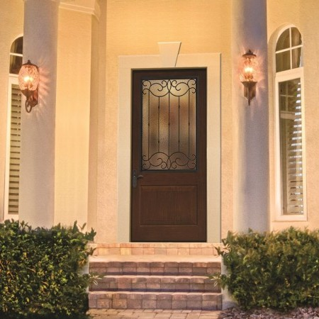 Doors Contemporary Thermatru Classic Rustic Glass