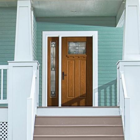 Doors Contemporary Thermatru Fiber Classic Mahogany