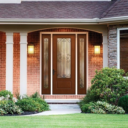 Doors Contemporary Thermatru Fiber Classic Mahogany